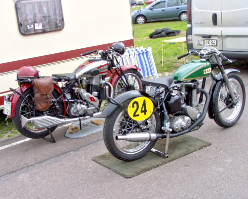 Vintage Husquvarna and BSA LIN